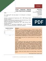 Fiber Glass Composite Laminates (FGCL) Measurement using 3 Axis Pulse Echo Scanning Unit