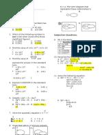 Quiz 1 Mathematics Form 4