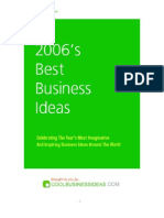 Best Business Ideas Of 2006