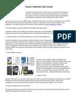 Tips Cara Supaya Ponsel Android Gak Lemot
