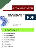 7 Cs of Comm
