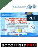Información curso socorrista Almería UAL 22 feb 2016