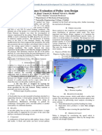 Performance Evaluation of Pulley Arm Design
