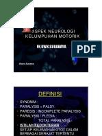 Aspek Neurologi Kelumpuhan Motorik 1