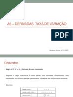 Módulo A6 – Derivadas