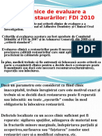 CRITERII  DE EVALUARE A CALIT¦¦II RESTAUR¦RILOR(FDI 2010)