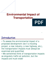 Lecture on Env Impact of Transportation