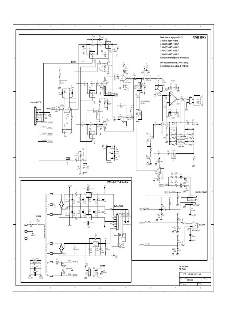 VOX AD30VT/AD15VT schematics