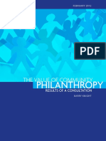 The Value of Community Philanthropy