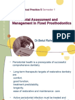Periodontal Assessment and Managment in Fixed Prosthodontics