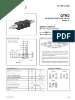 Modular Throttle Valve NG4, Type QTM2