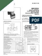 Proportional Flow Control Valve RPCED1