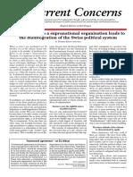 Current Concerns 2015 Oct No.26 Supranational Against Switzerland