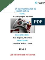 Los Videojuegos Violentos