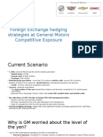 Foreign Exchange Hedging Strategies at General Motors Competitive