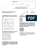 Avaliação de Matemática