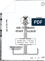 Bekaa Valley a Case of Study - Air Command and Staff College - Mj Clary 1988