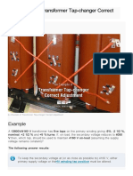An Example of Transformer Tap-changer Correct Adjustment _ EEP