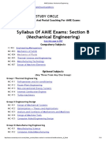AMIE Syllabus_ Mechanical Engineering
