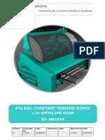 HYDRAULIC WINCH-MS1059 - Operation & Maintenance Manual Rev A