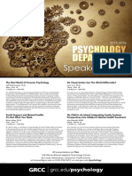 2015-2016 Psychology Lecture Series Poster