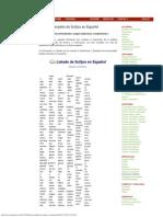 Gramáticas Listado Completo de Sufijos en Español