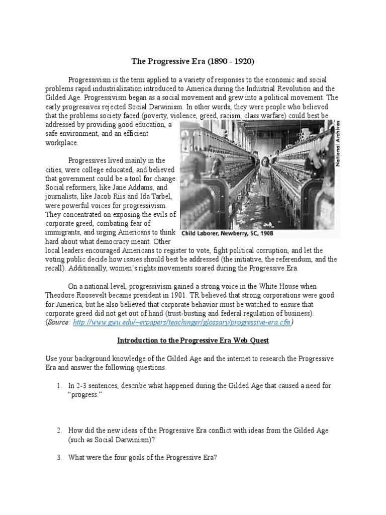 worksheet Progressive Era Worksheet the progressive era worksheet progressivism era