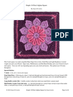 Simple 10-Petal Afghan Square Crochet