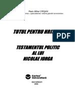 Nicolae Iorga - Testamentul Politic