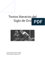 Textos Literarios Del Siglo de Oro