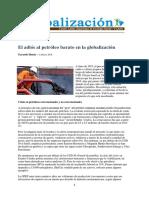 Adios petróleo barato globalización