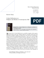 Review of Richard Fox's (2011) Critical Reflections on Religion and Media in Contemporary Bali