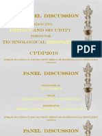 CPDP 2016 - Panel on Privacy & Innovation