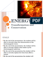 Energy Transformation and Conservation