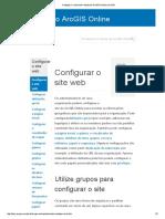 Configurar o Site Web—Ajuda Do ArcGIS Online _ ArcGIS