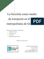 La bicicleta como medio de transporte en el área metropolitana de Granada