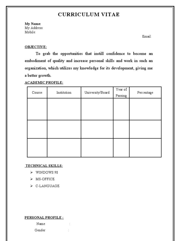 fresher ece resume model 208
