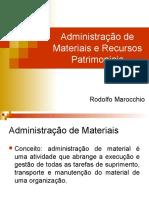 Administracao de Materiais e Recursos Patrimoniais