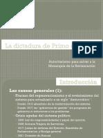 Informació adicional de la dictadura de Primo de Rivera