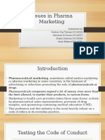 Issues in Pharma Marketing