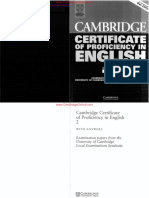 Cambridge Certificate of Profeciency in English 2