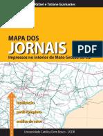 Mapa dos Jornais Impressos no Interior de Mato Grosso do Sul