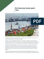 New China Bills Financing Frauds Spark Trade Finance Fear