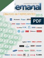 Lista de fabricantes de tecnología 2015