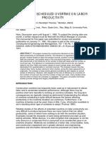 NECA Study - Impact on Overtime