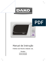 Dako Manual Microondas Digital 18 Litros