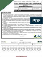 gabarito da prova de Engenheiro Eletricista da prefeitura de fernandopolis 2015