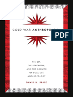 Cold War Anthropology by David H. Price