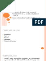 00 - Didáctica Diferencial - Presentación Del Curso - Sesión 1