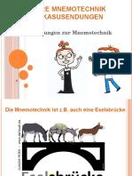 Mnemotechnik Adjektivdeklination